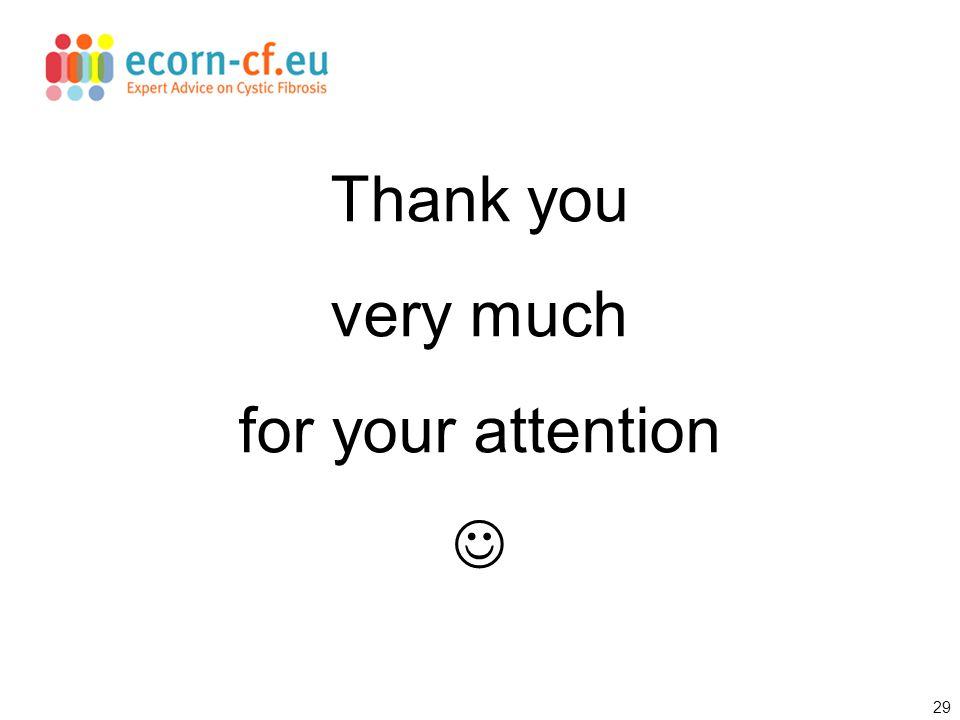 29 Thank you very much for your attention