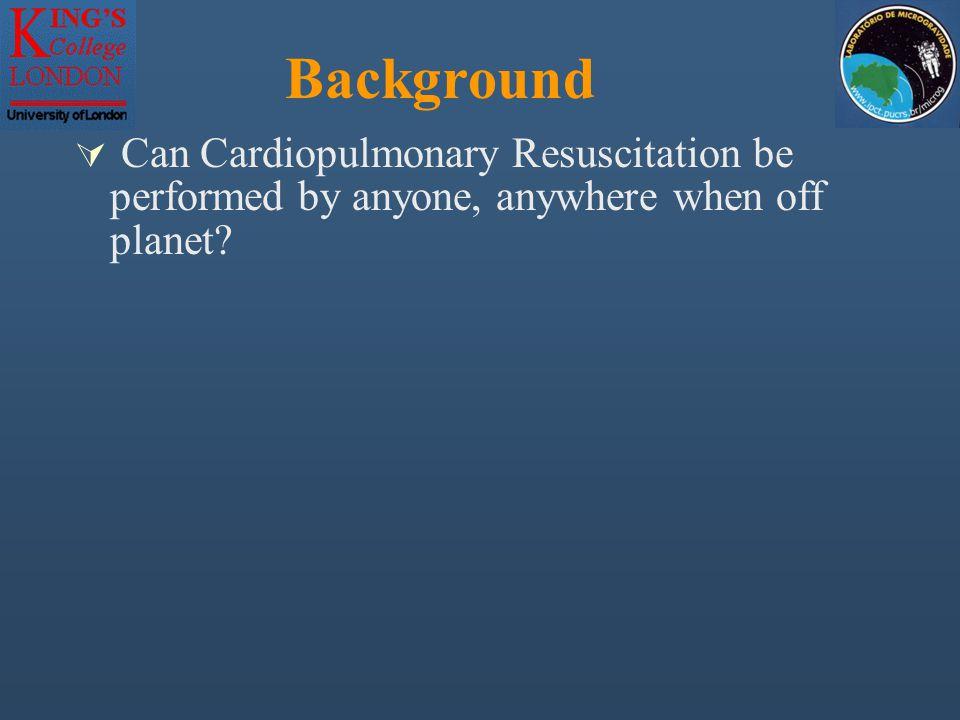Evaluation of a novel method of performing cardiopulmonary resuscitation in microgravity Simon N Evetts PhD, Lisa Evetts RGN, Thais Russomano MD PhD,