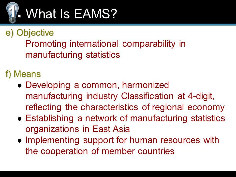 g) Past Meetings What Is EAMS.1. The 1st Meeting (Jan.