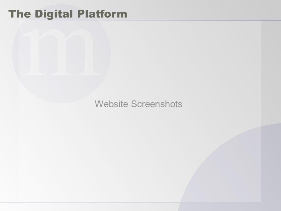 The Digital Platform Website Screenshots