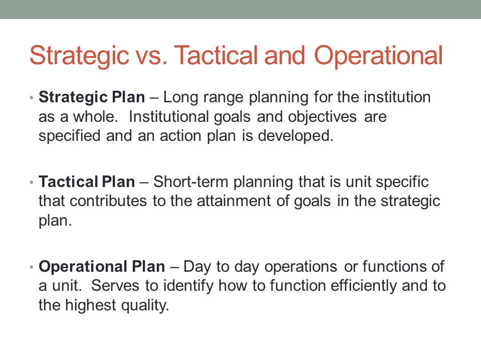 Strategic vs.