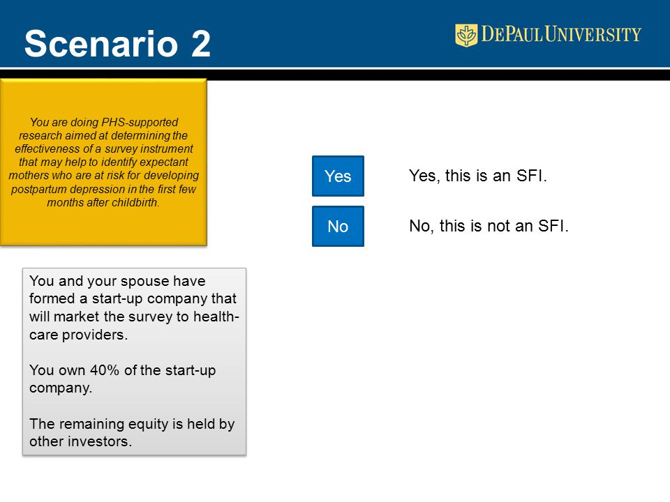 Scenario 2 You and your spouse have formed a start-up company that will market the survey to health- care providers.