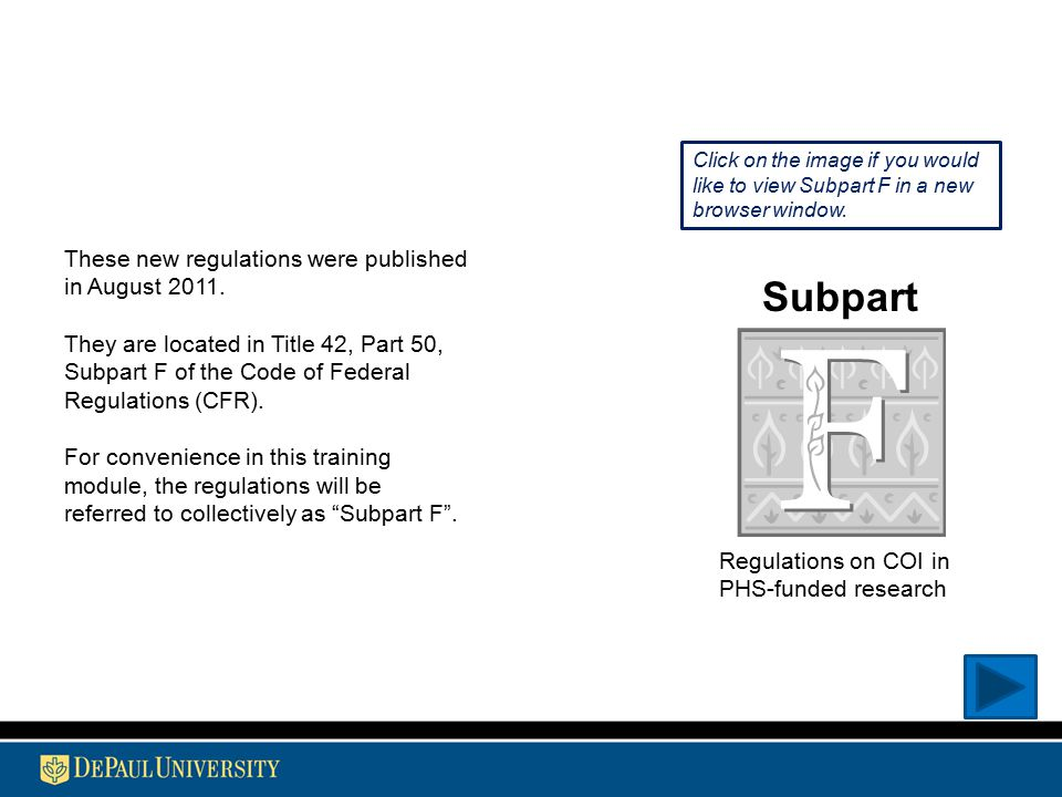 These new regulations were published in August 2011.