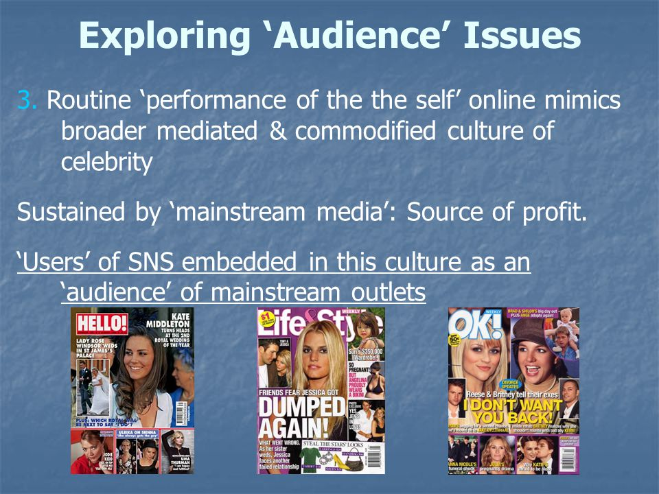 Exploring 'Audience' Issues 3.