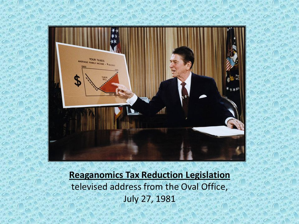 Reaganomics Tax Reduction Legislation televised address from the Oval Office, July 27, 1981