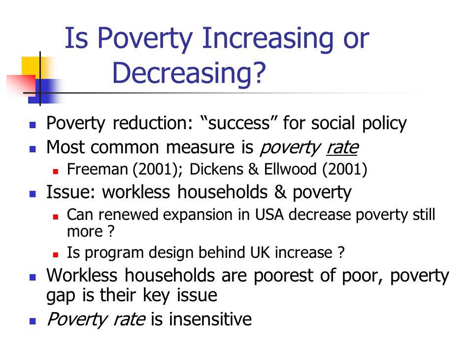 Is Poverty Increasing or Decreasing.