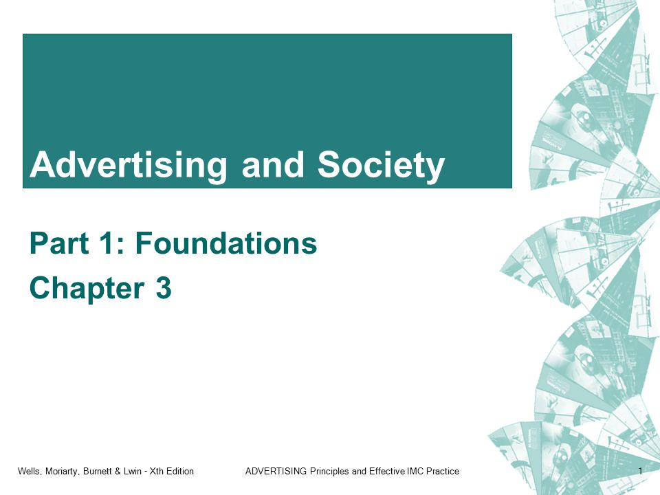 Wells, Moriarty, Burnett & Lwin - Xth EditionADVERTISING Principles and Effective IMC Practice1 Advertising and Society Part 1: Foundations Chapter 3