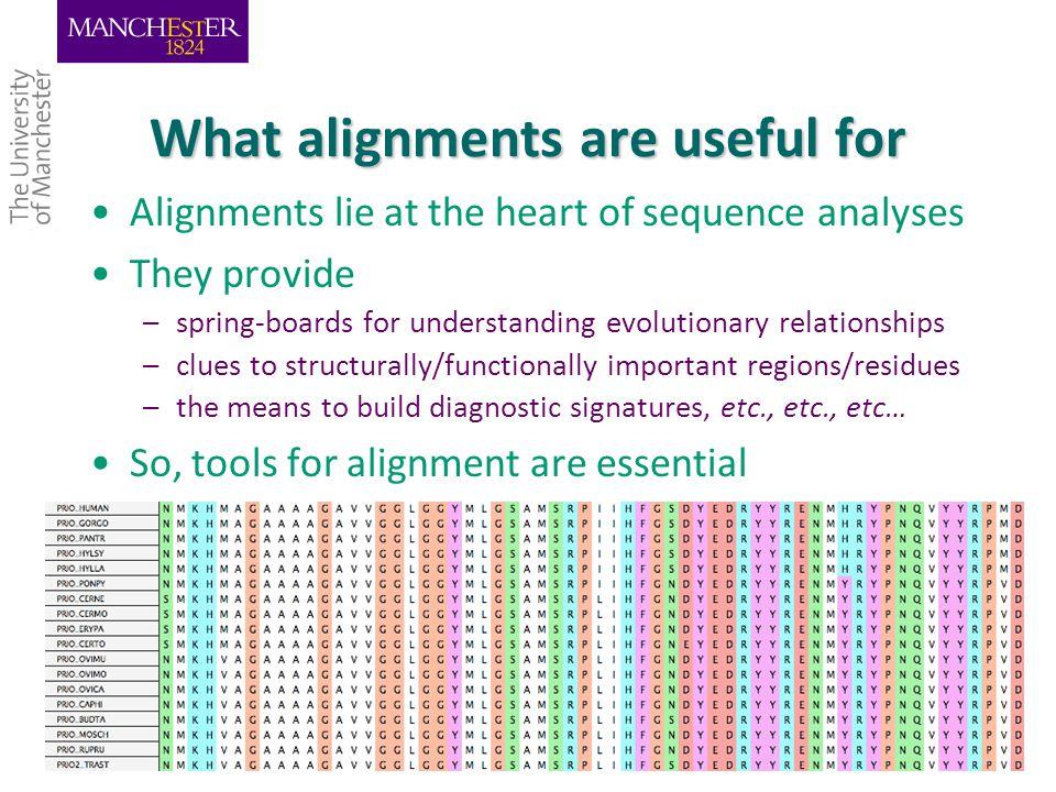 Alignment Utopia 5/3/2015Teresa K.Attwood University of Manchester 45 Today's hands-on will explore a number of alignment scenarios using Utopia