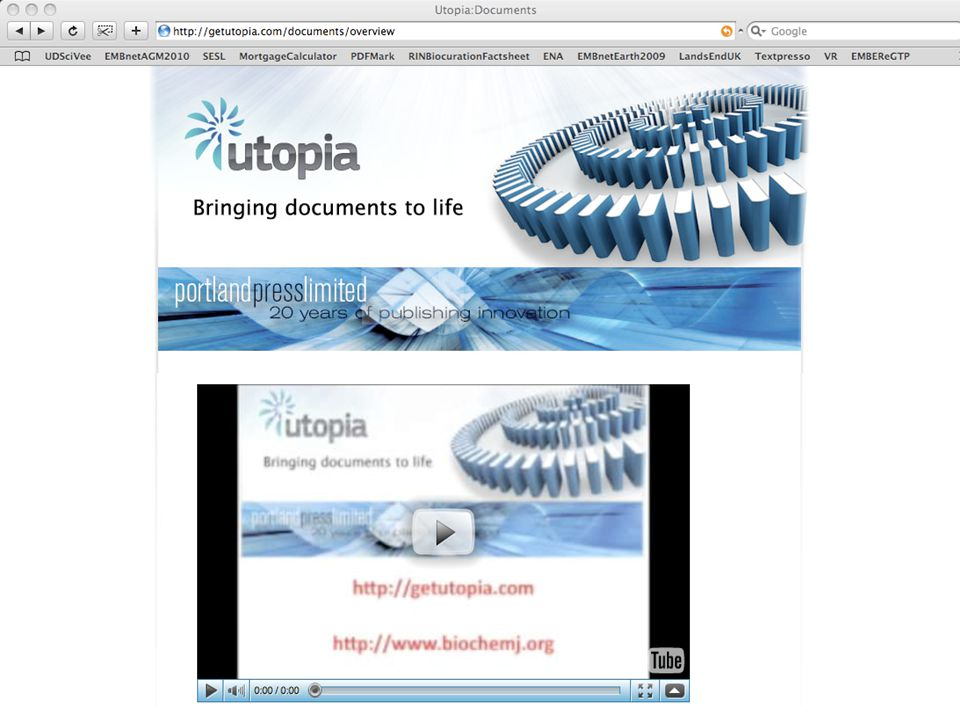 5/3/2015Teresa K.Attwood University of Manchester 46 Alignment Utopia We will also introduce Utopia Documents –visit the Website to see the movie