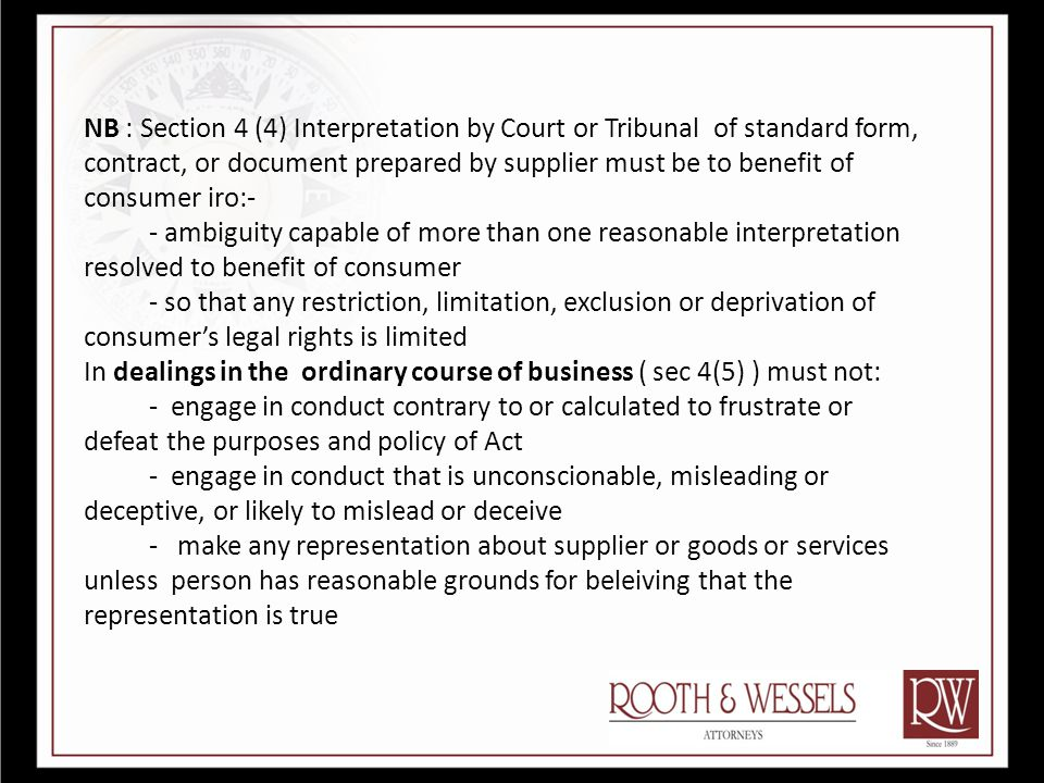 Application of the Act Section 5 Every Transaction in Republic unless exempted by s 5 (2).