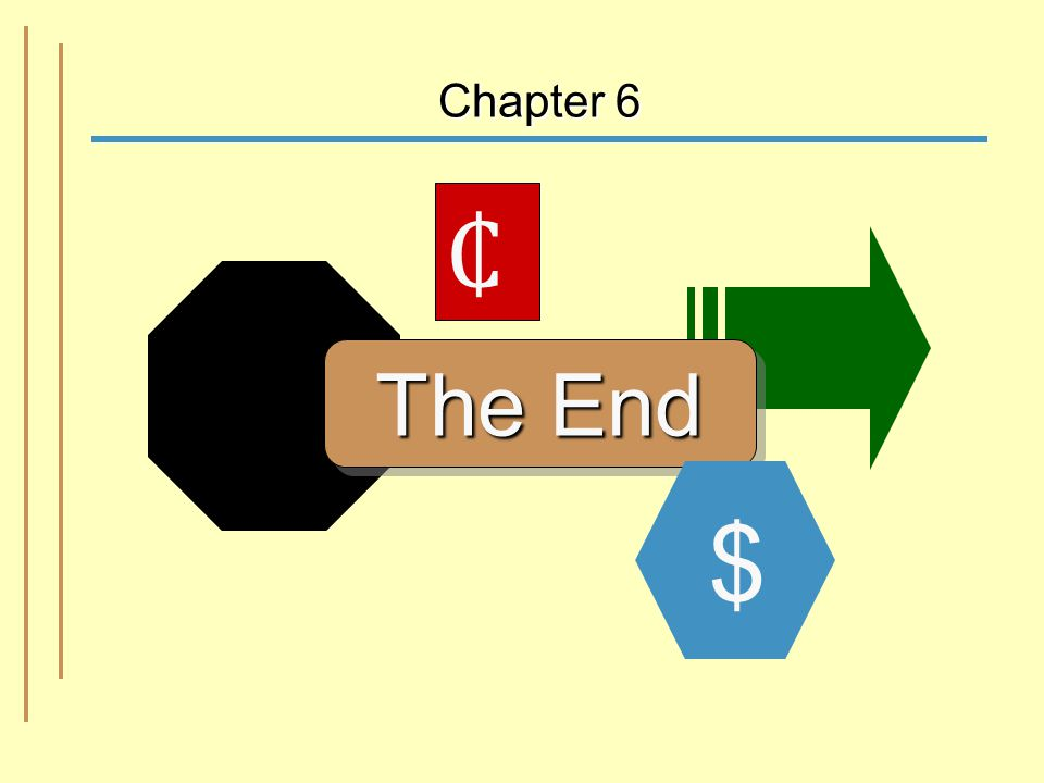 6-42 Chapter 6 The End $