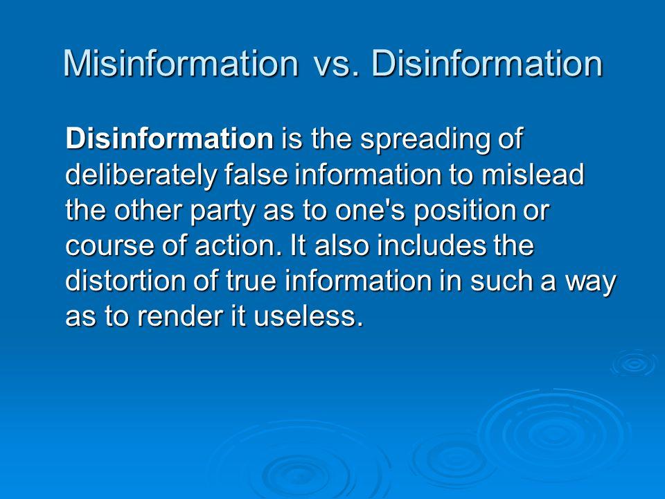Misinformation vs.