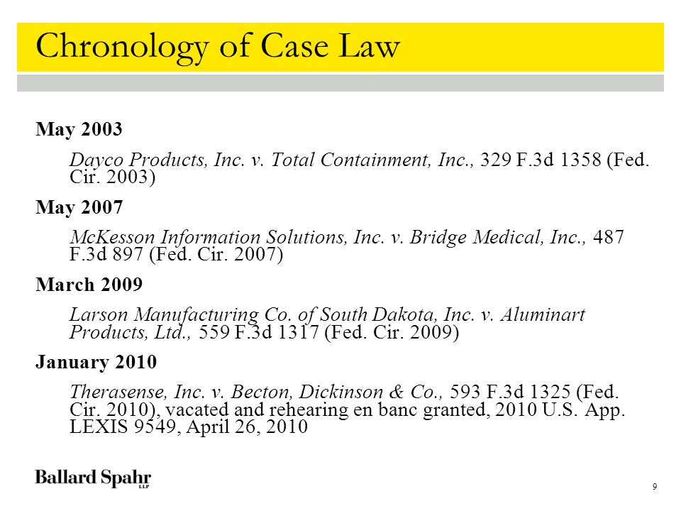10 Dayco Products Facts: Four patents-in-suit ( A patents) Related family of three copending applications ( B applications) B1 claims substantially similar and in some respects substantially identical to A claims A and B assigned different examiners A and B had same prosecuting attorney