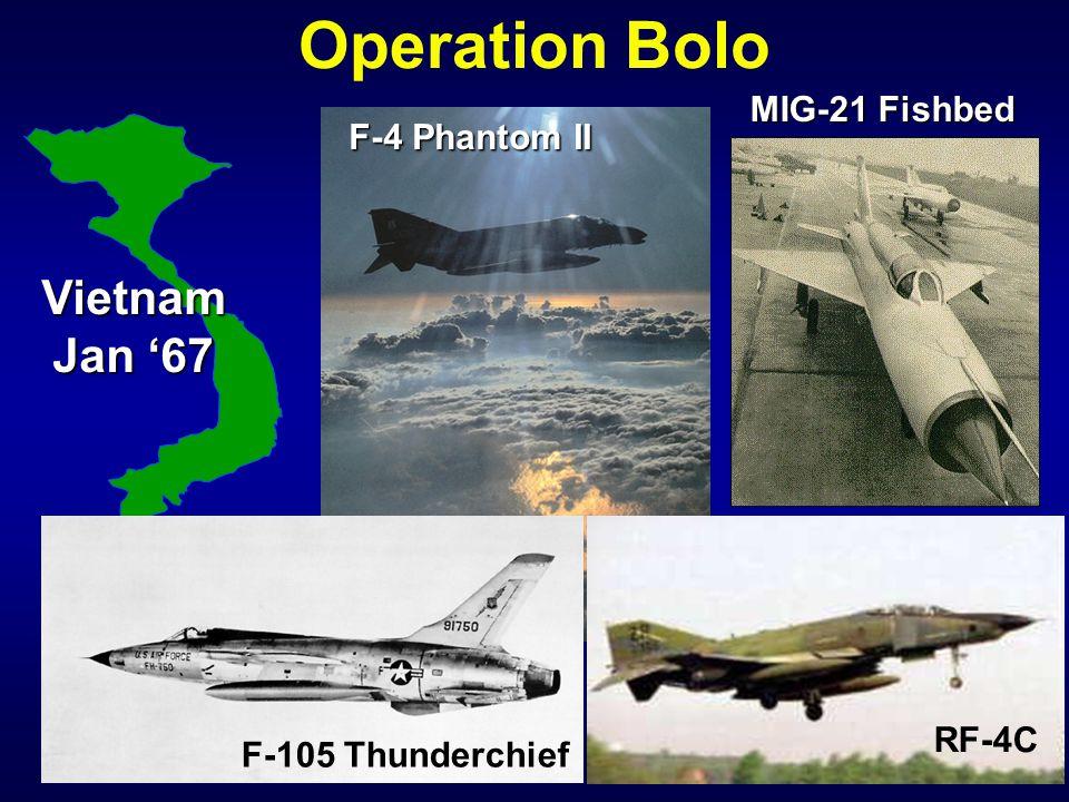 Operation BoloVietnam Jan '67 MIG-21 Fishbed F-4 Phantom II RF-4C F-105 Thunderchief