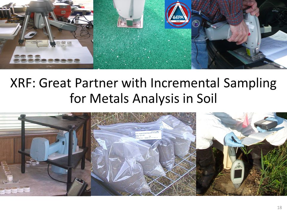 18 XRF: Great Partner with Incremental Sampling for Metals Analysis in Soil