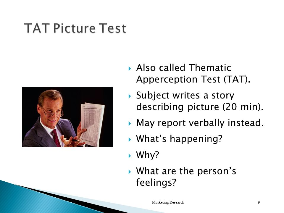  Also called Thematic Apperception Test (TAT).