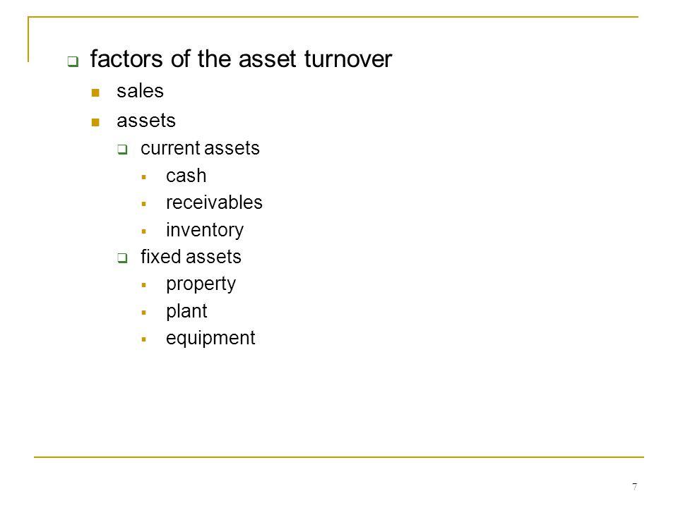 8  factors of the leverage multiplier.