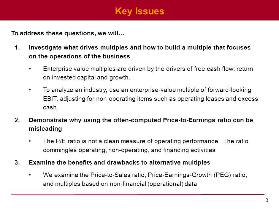 4 Back to Basics… What Drives Company Value.