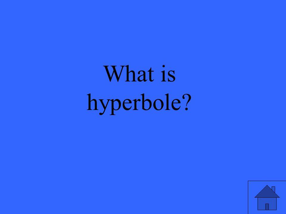 7 What is hyperbole