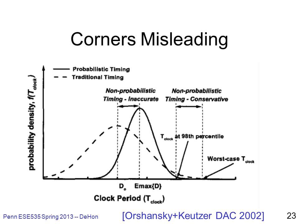 Penn ESE535 Spring 2013 -- DeHon 23 Corners Misleading [Orshansky+Keutzer DAC 2002]
