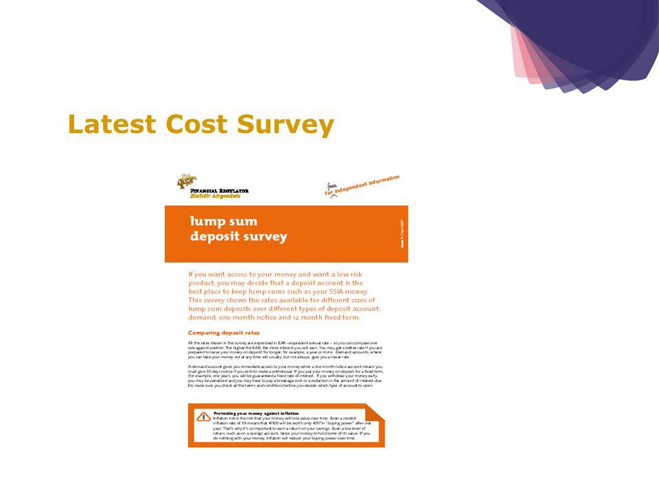 Latest Cost Survey