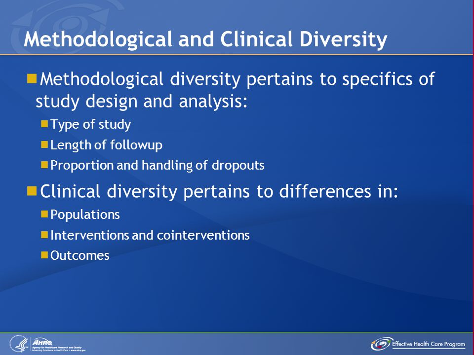 Statistical heterogeneity exists when the results of individual studies are not consistent among themselves.
