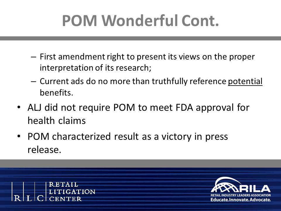POM Wonderful Cont.
