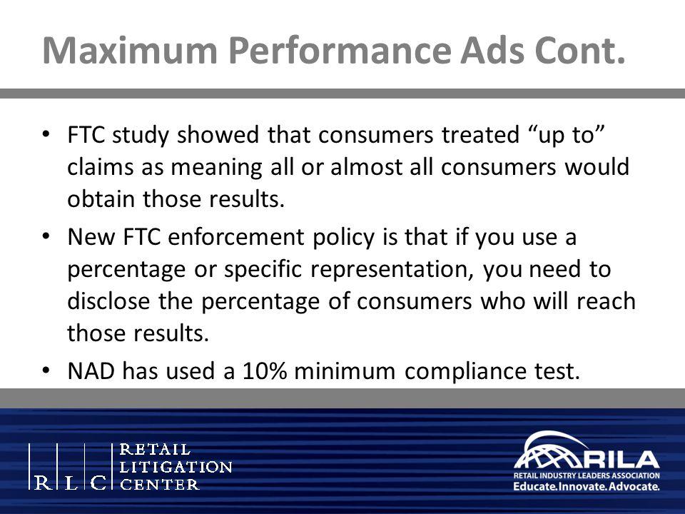 Maximum Performance Ads Cont.