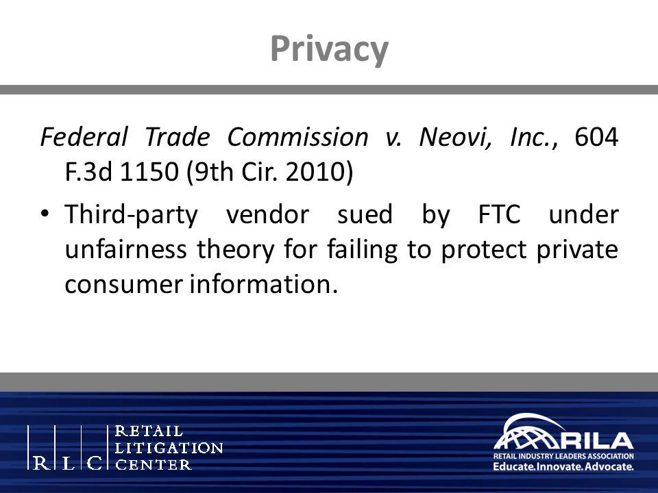 Privacy Federal Trade Commission v. Neovi, Inc., 604 F.3d 1150 (9th Cir.