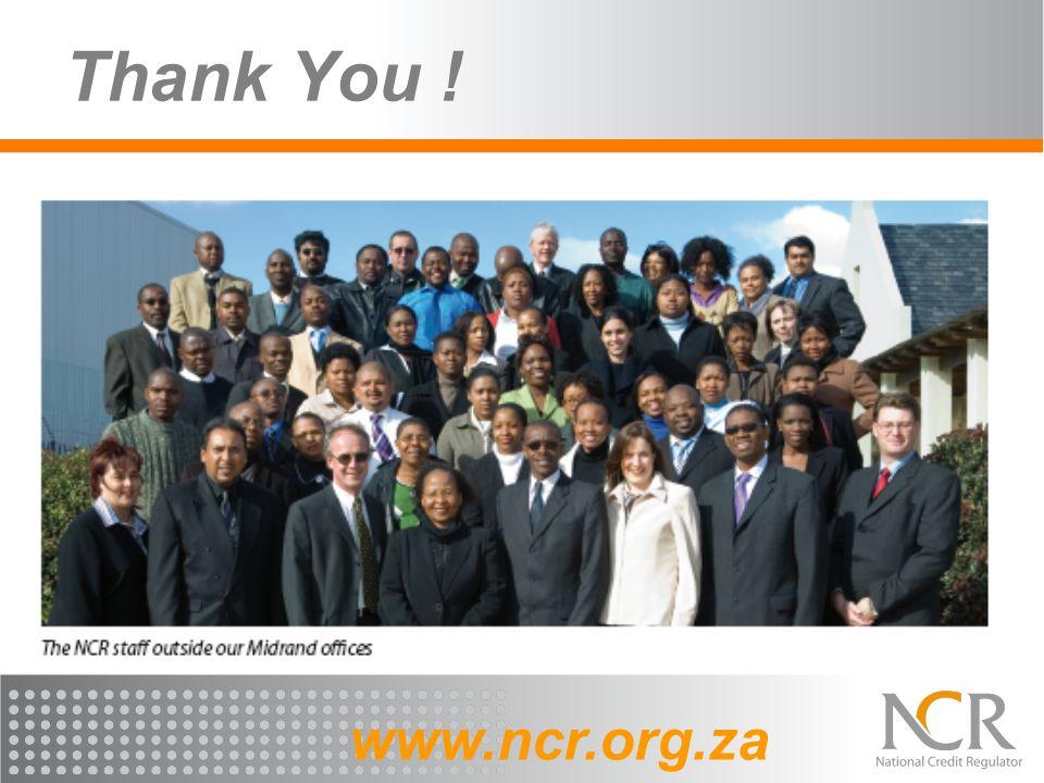 Thank You ! www.ncr.org.za