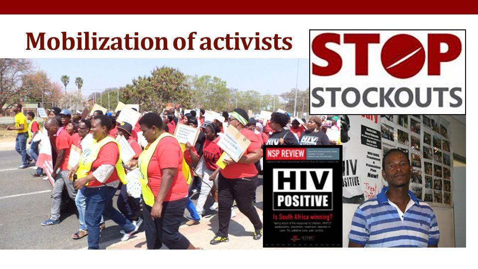Mobilization of activists