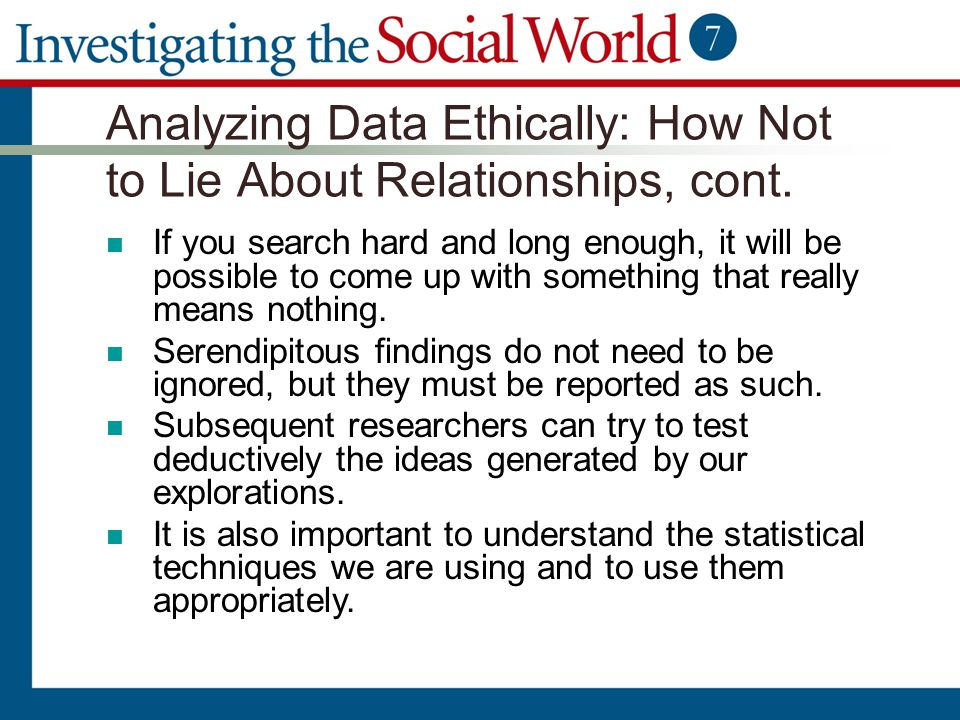 Analyzing Data Ethically: How Not to Lie About Relationships, cont. If you search hard and long enough, it will be possible to come up with something