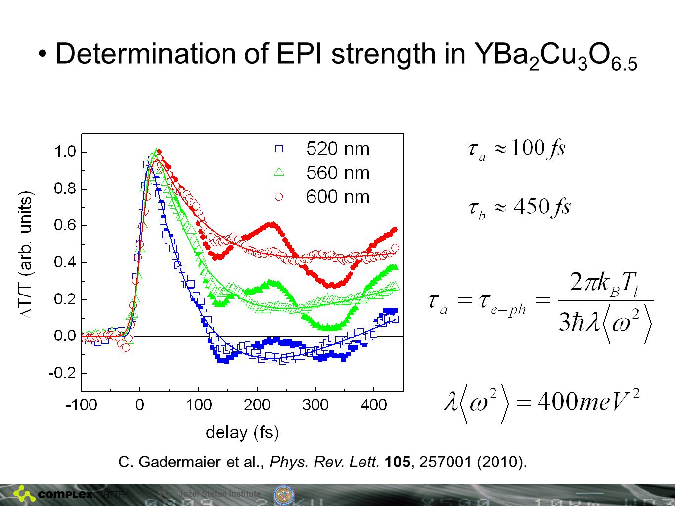 Determination of EPI strength in YBa 2 Cu 3 O 6.5 C.