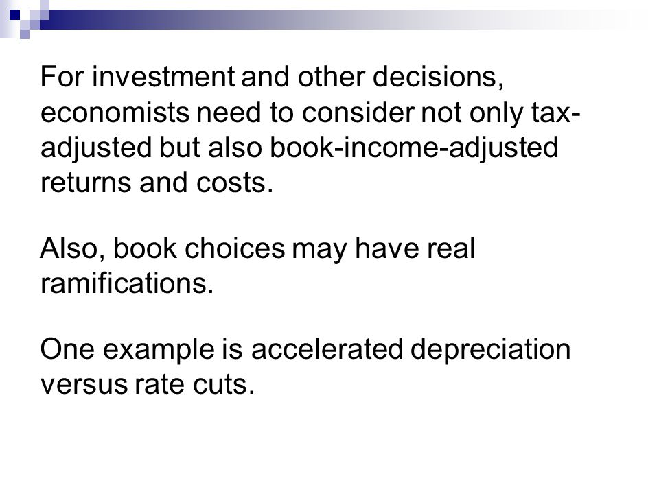 Supply Meets Demand Relative demand and supply elasticity will determine incidence (effect on taxpayers versus effect on shelter providers) of changes in tax policy, including tax enforcement policy.