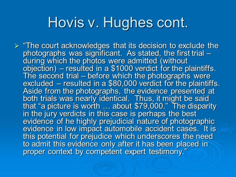 Hovis v. Hughes cont.