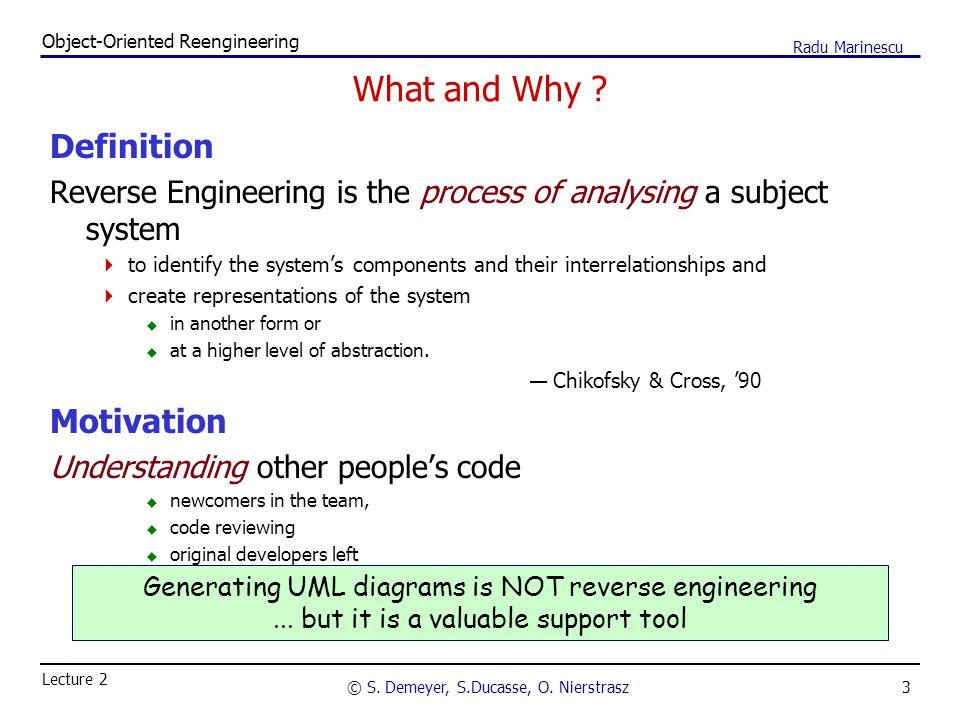 3 Object-Oriented Reengineering © S. Demeyer, S.Ducasse, O.