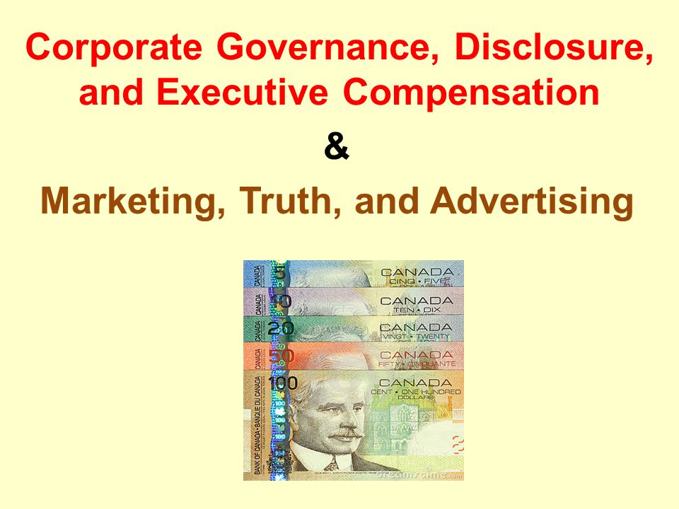 Corporate Governance Corporate scandals at the start of the century were principally scandals about corruption at the top.