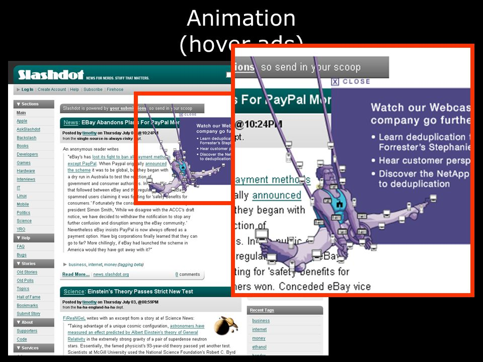 Animation (hover ads)