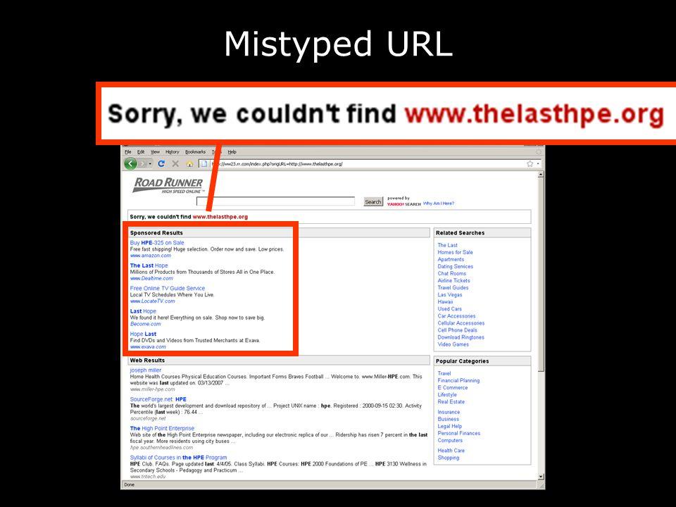 Mistyped URL