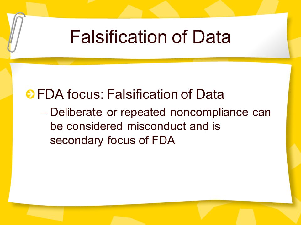 Malicious Malfeasance Deliberate action to deceive or mislead F _ _ _ _ Examples: creating, altering, recording, or omitting data Data does not repres