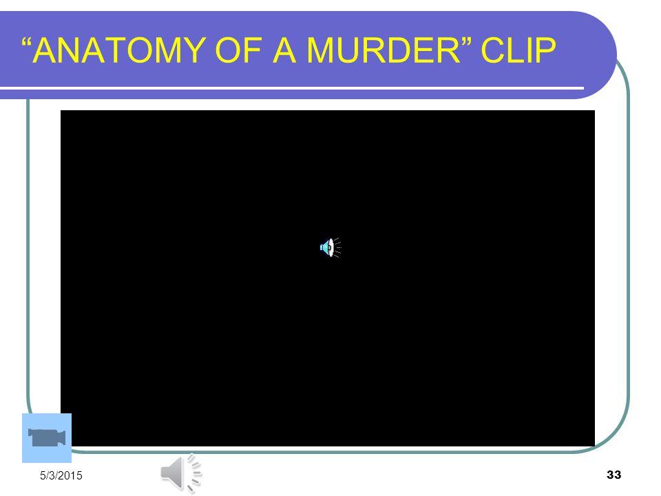 "5/3/2015 33 ""ANATOMY OF A MURDER"" CLIP"