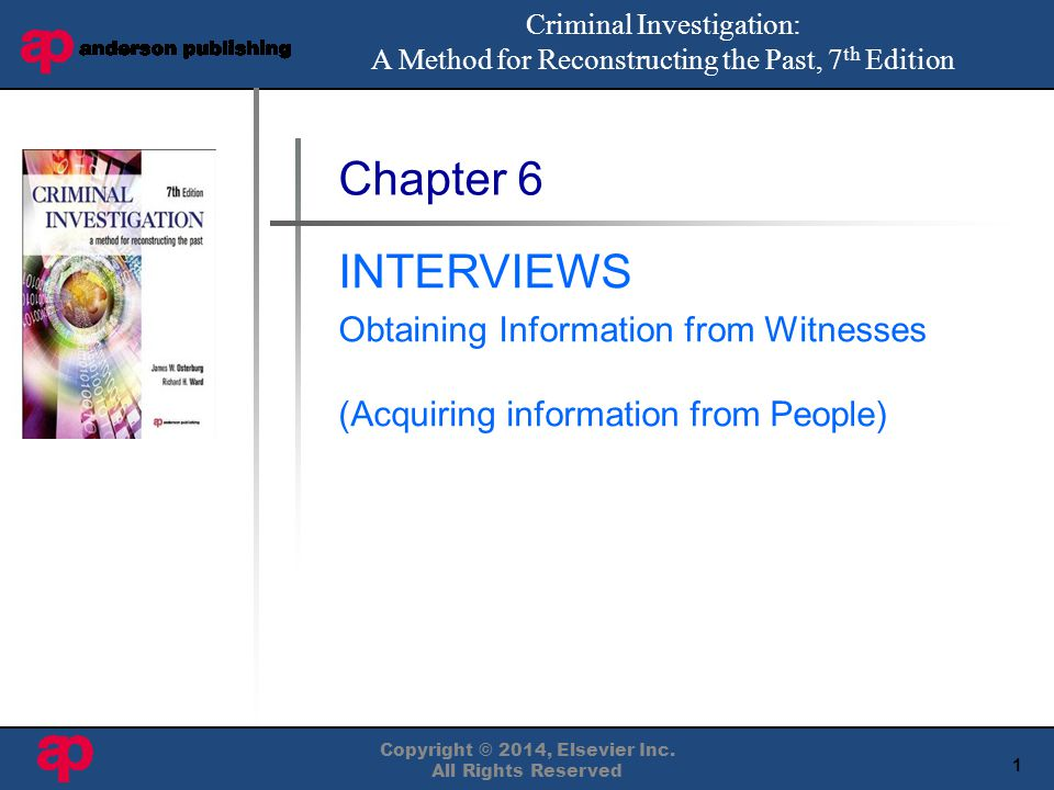 2 Copyright © 2014, Elsevier Inc.All Rights Reserved Questioning People Interviewing vs.