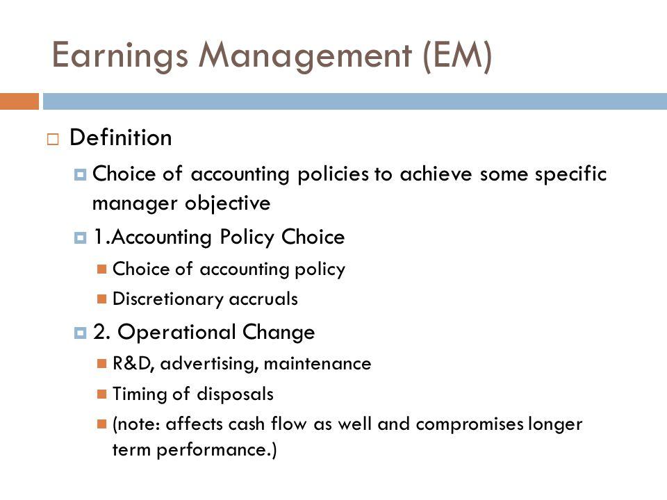 Earnings Management Techniques: Nelson et al (2003)