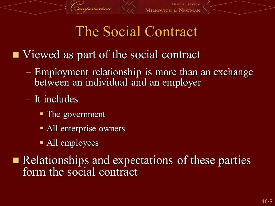 16-9 Exhibit 16.3: Social Contracts and Pay Setting