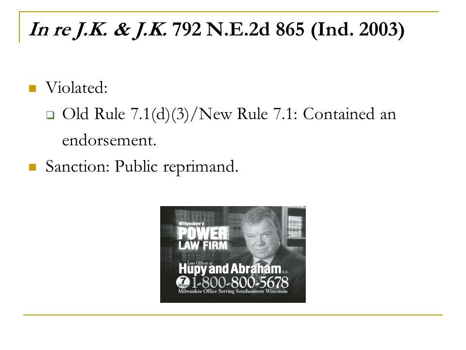 In re J.K.& J.K. 792 N.E.2d 865 (Ind.