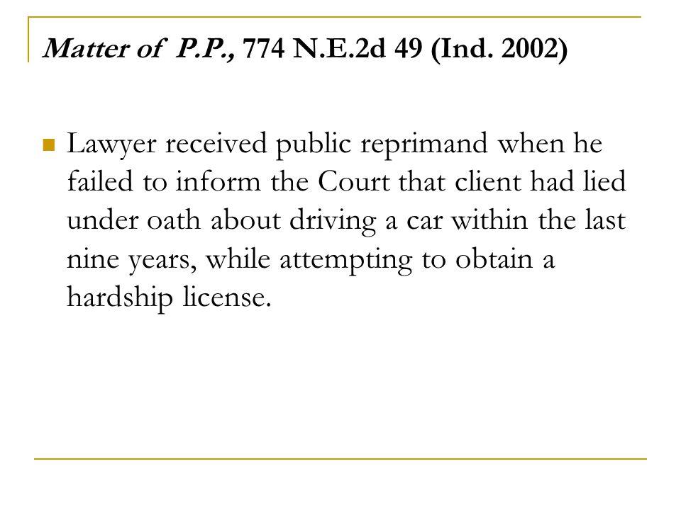 Matter of P.P., 774 N.E.2d 49 (Ind.