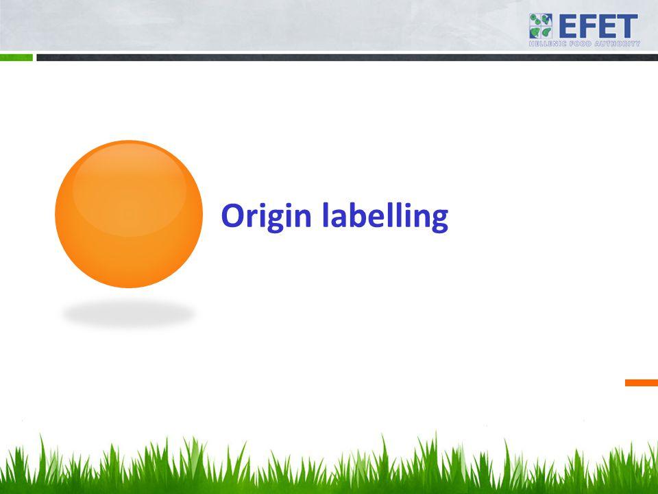 Origin labelling