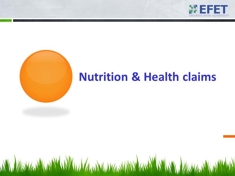Nutrition & Health claims