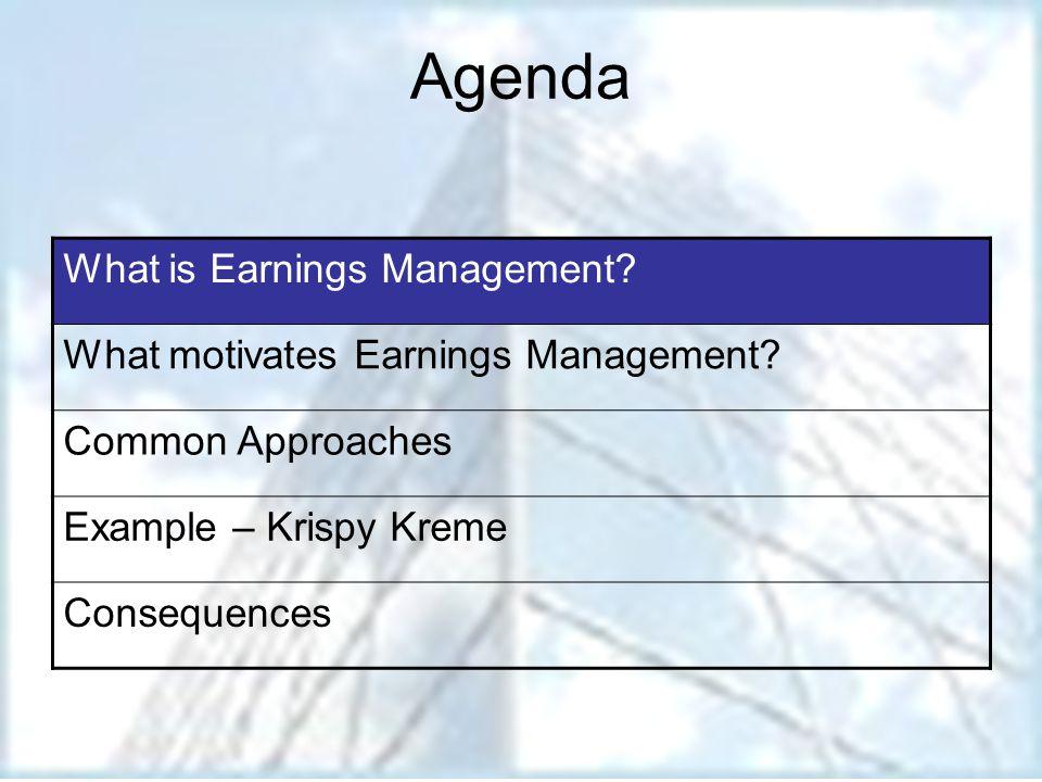 How KKD Managed Earnings.