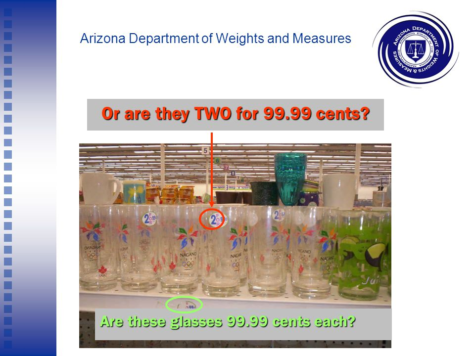Arizona Department of Weights and Measures Are the Skittles 49.99 cents? Or are they 99.99 cents?
